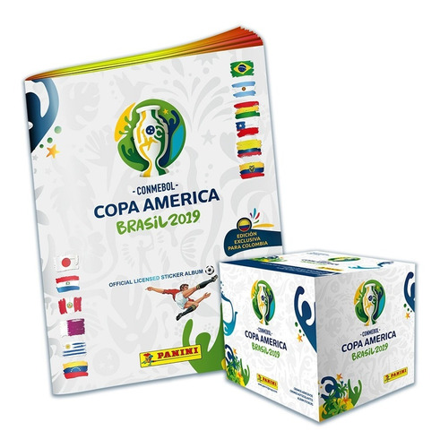caja 50 sobres+album obsequio pasta blanda copa américa