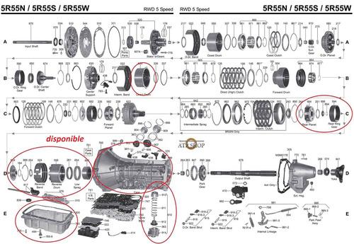 caja 5r55w  partes  ford explorer   motor 4 0 sohc 6 c