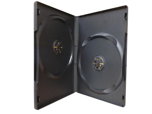 caja 9mm negras doble dvd