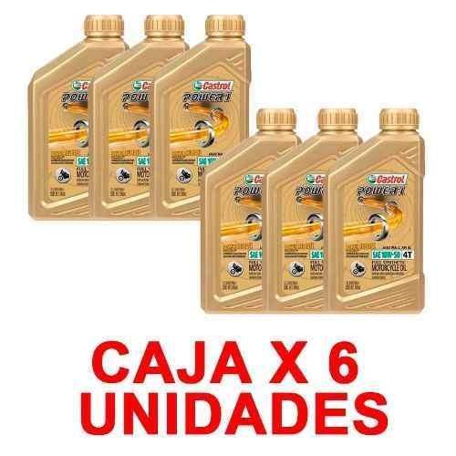 caja aceite castrol power 1 sintetico 4t x 6 unidades cuotas