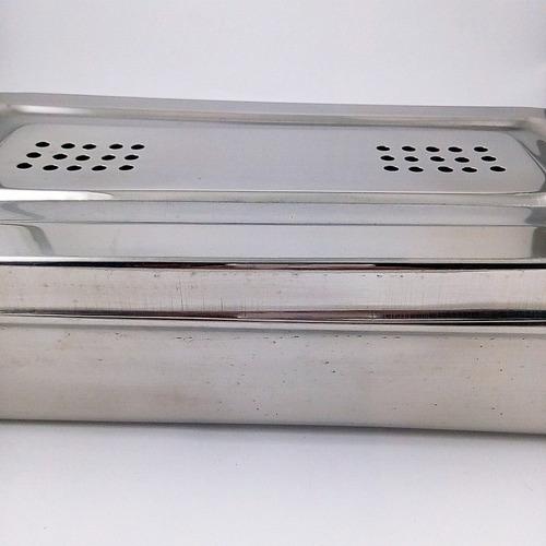caja acero inoxidable perforada