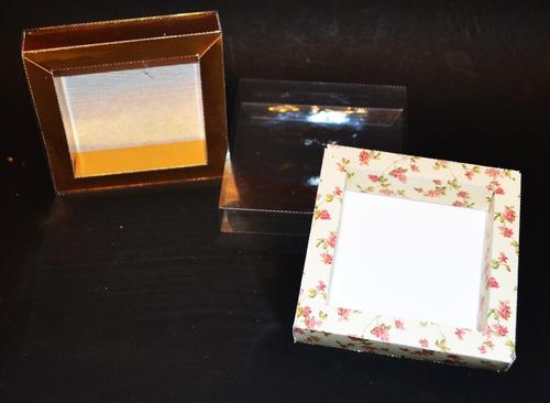caja acetato transparente para bombones/cookies x 10 uni