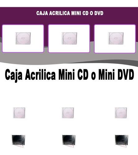 caja acrilica mini cd o mini dvd x10