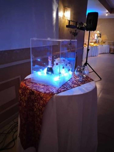 caja acrílica para ramo de bodas