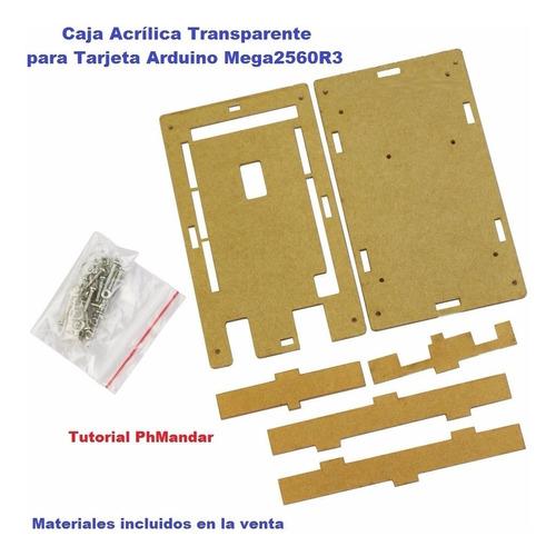 caja acrílica transparente / case para tarjeta arduino mega