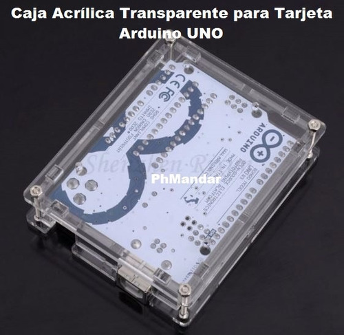 caja acrílica transparente / case para tarjeta arduino uno