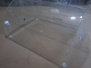 caja acrilicas tipo baul ideal para panaderias