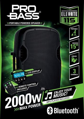 caja acústica activa 15 pro bass elevate lp cyber monday