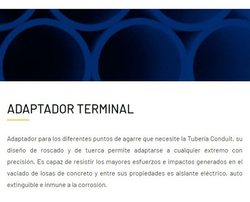 caja adaptador terminal eléctrico 3/4 tubosa