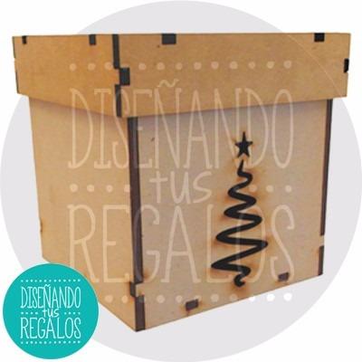 caja adorno deco regalos feliz navidad mediano.x1u.- nvd-186
