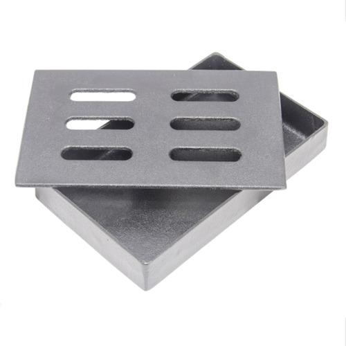 caja ahumadora de hierro fundido carnes asador parrilla