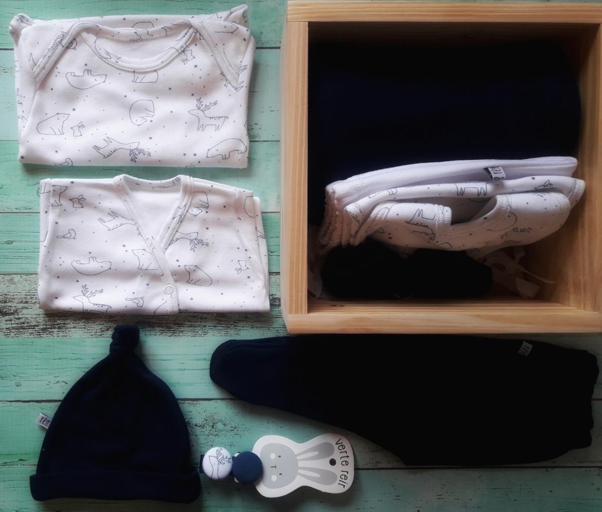 Caja Ajuar Bienvenida Bebe 10 Piezas Nacimiento Babyshower -   2.270 ... 32f20f09b4c