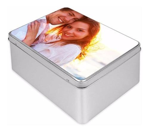 caja alhajero de metal personalizada. rectangular