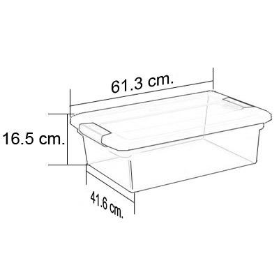 caja almacen clearview  30.27 lts.(32 qt.) sterilite