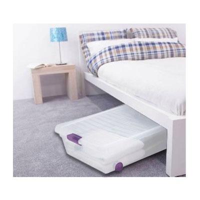 Caja almacenaje clear view bajo cama sterilite for Cajas bajo cama carrefour