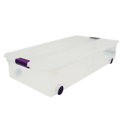 caja almacenaje clear view bajo cama sterilite