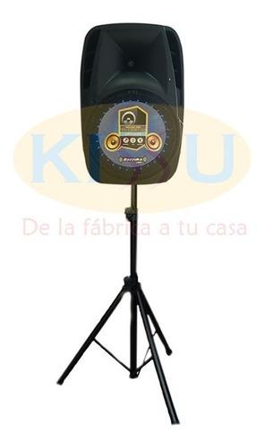 caja amplificada bazzuka 15000w pedestal + microfono