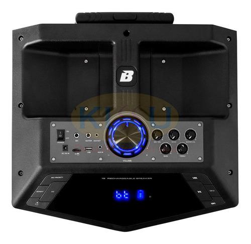 caja amplificada bazzuka 18000w recargable + microfono
