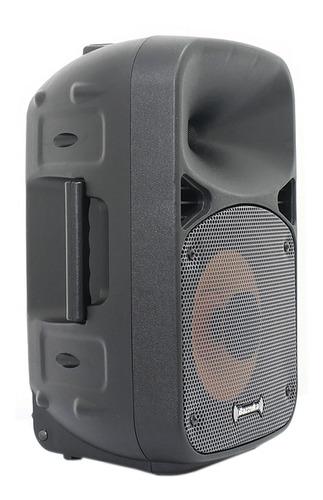 caja amplificada bazzuka 8  negro 3000 watts recargable