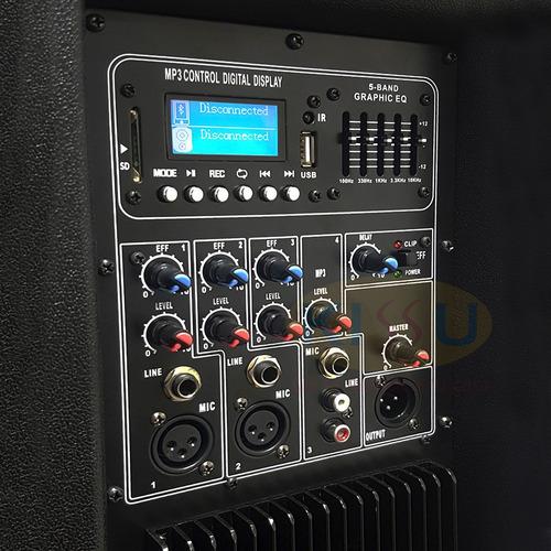 caja amplificada italy audio two play 2x15  doble bocina