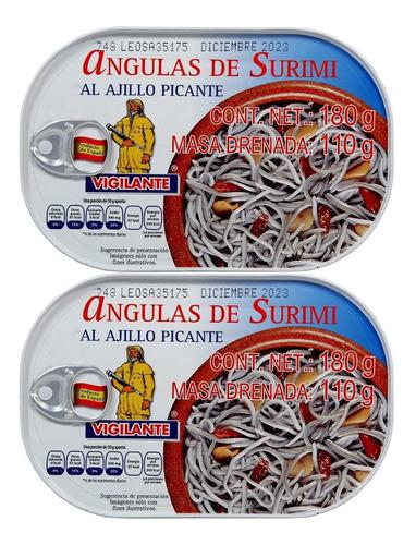 caja angula de surimi vigilante  2pzs de 180 gr