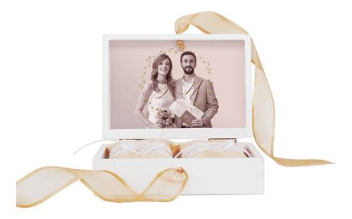caja anillos alianzas casamiento c/ cinta diseño a elección