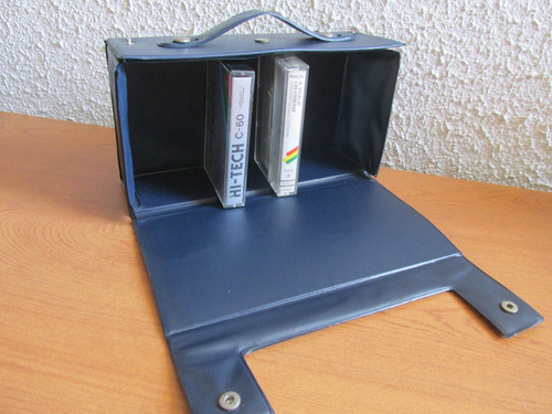 caja antigua años 80 porta cassettes japonesa muy escasa