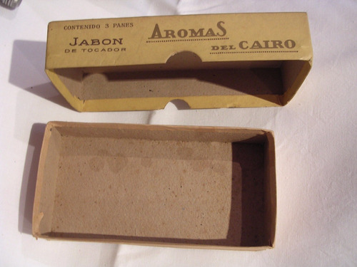 caja antigua carton jabon aromas del cairo zona caballito