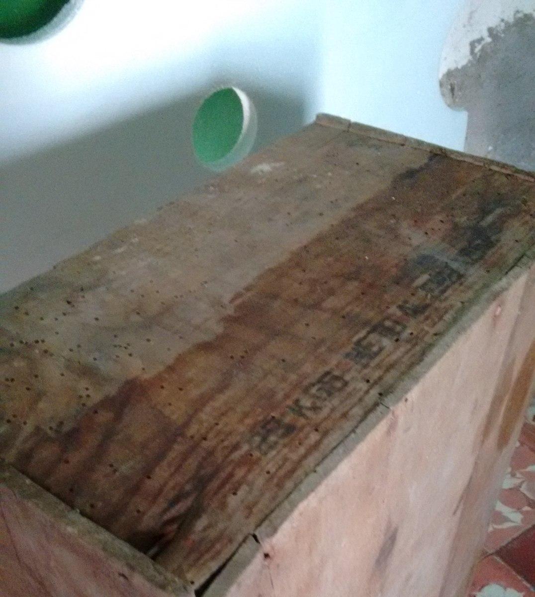 Caja antigua de madera de jab n la rosa en - Caja madera antigua ...
