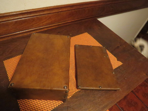 caja antigua forrada ecocuero 27x20x10