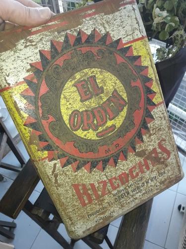 caja antigua lata galletitas el orden vainillas