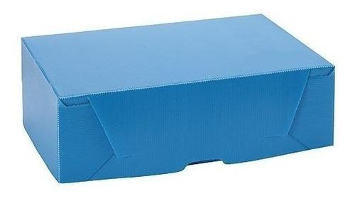 caja archivo extra grande 38x27x12 plástica azul