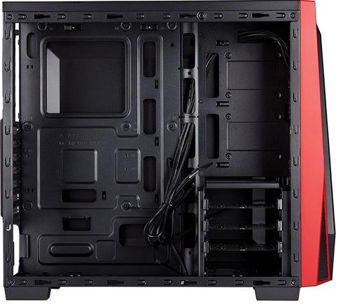 caja atx corsair spec 04 negro / rojo + fuente 650w evga