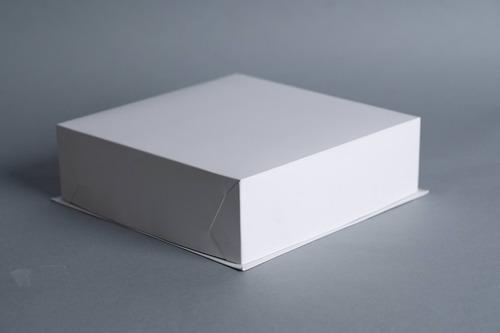 caja base bandeja + tapa 26 x 26 x 8 cm (x50 u.) tortas tartas postres semifrios - bauletto