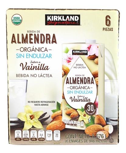 caja bebida almendras orgánica vainilla kirkland 6p 946mlc/u