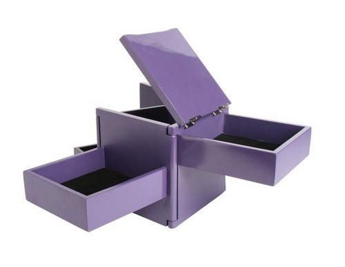 caja bijou violeta marca umbra. modelo tuck