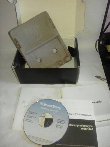 caja blackberry con manuales y cd