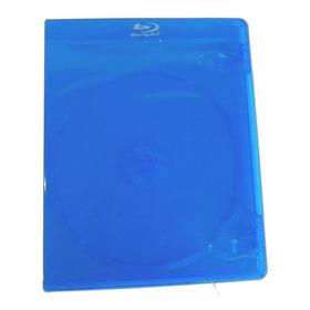 Caja Bluray Azul Con Logo 11mm -  Importadas - Pack 10 Un