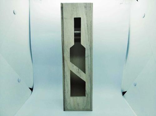 caja botella de vino. feria mayorista