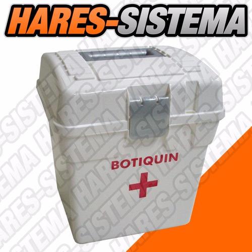 caja botiquín - primeros auxilios 9lts plástica sin insumos