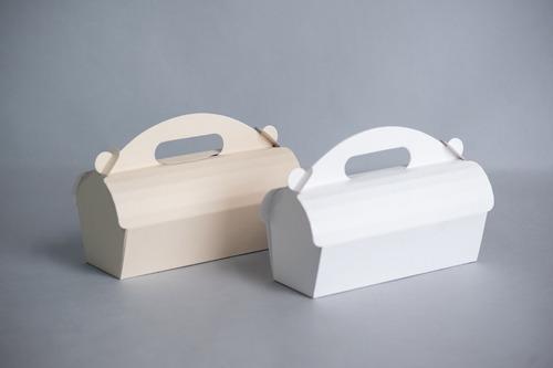 caja c/ manija tipo casita alta 22x7x10 cm (x50 u.) budines alfajores cookies - 032 bauletto
