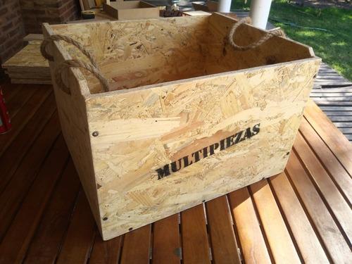 caja cajón porta jenga gigante multipiezas (44 x 37 x 28) cm