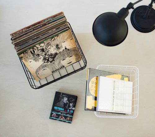 caja canasto cesto organizador deco blanco chico 30x25x15cm
