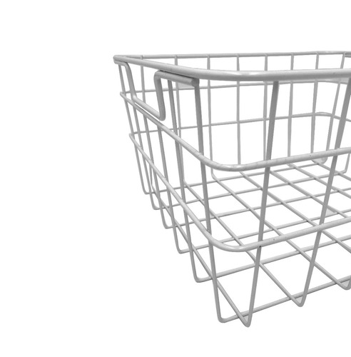 caja canasto vinilos cesto organizador deco blanco 35x30x17c
