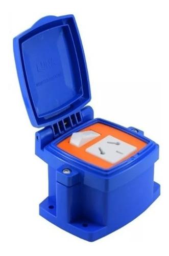 caja capsulada azul punto y toma mig pack x 5