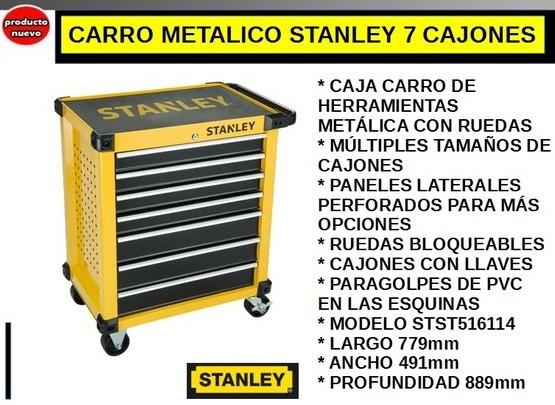 03214769728 Caja Carro Metalico Stanley 7 Cajones Taller Villa Urquiza