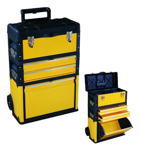 caja carro porta herramienta metálico 3 cuerpos profesional