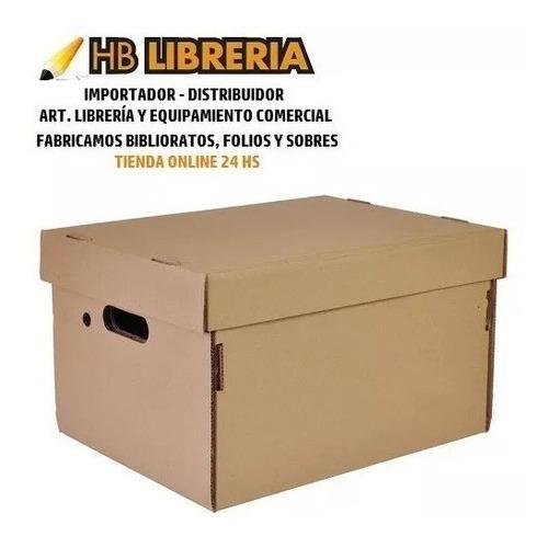 caja carton americana 42x32x25 reforzada con tapa  x 10 uni
