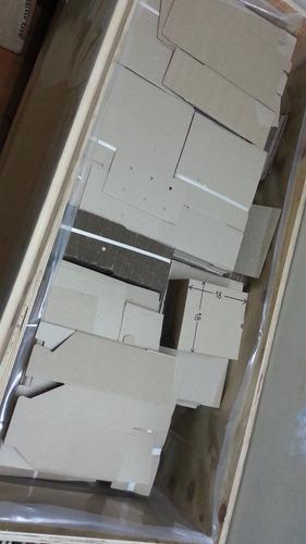 caja carton microcorrugado automontable + interior+ troquel