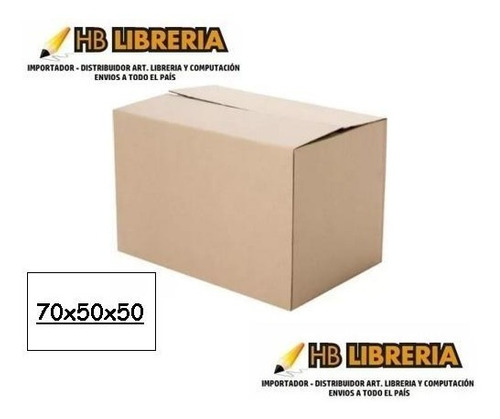 caja carton mudanza embalaje 70x50x50 reforzada premium x10u
